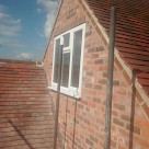 <p>The new gable end with window.</p>